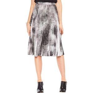 Vince Camuto Metallic Pleated Skirt